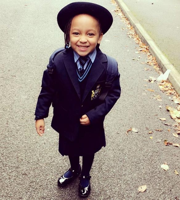 Aww! Raheem Sterling's daughter's first day in school