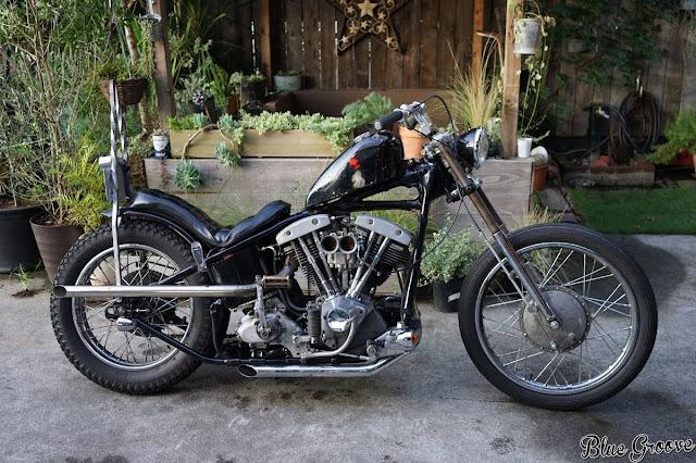 Harley Davidson Shovelhead 1971 By Blue Groove Hell Kustom