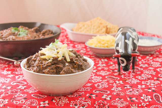 Food Lust People Love: Lots of chilies, cumin and chunks of beef, cooked till tender - that's all you need for the most delicious four alarm Texas chili. A bowl of red and you'll taste the fiery spirit of Texas.