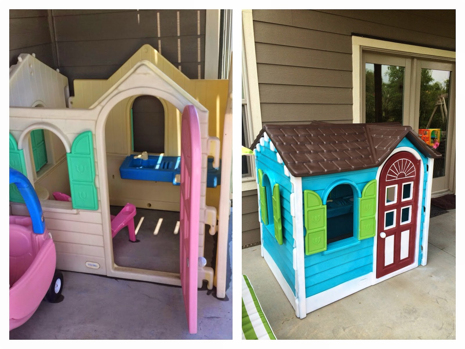 I Recently Posted A Photo Via Facebook Instagram Showing My Little Tykes Playhouse Makeover And Had Lots Of Questions On It So Figured That Would Start