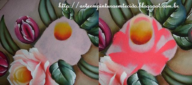 pintura em tecido passo a passo rosa