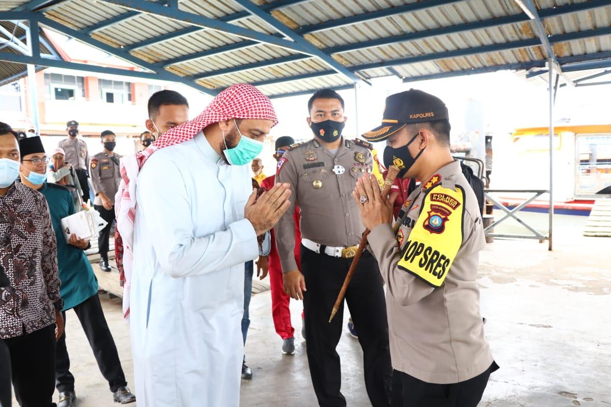 Syekh Ali Jaber Silaturahim ke Polres Karimun