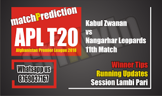 APL 2018 Today Match Prediction Kabul vs Nangarhar 11th APLT20