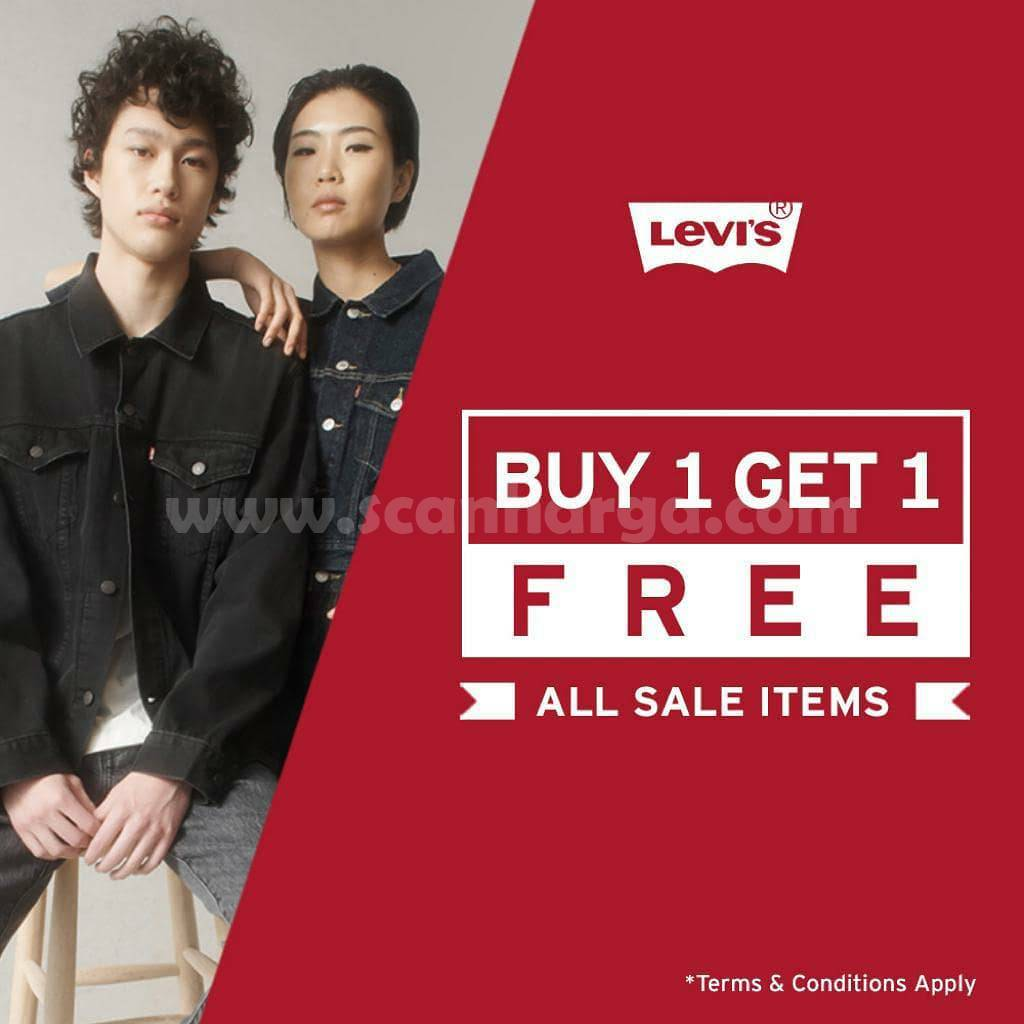 Levi's Promo Special Weekend! Buy 1 Get 1 Free All Sale Item