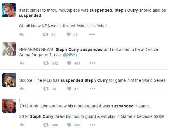 Juan Angry Steph! Curry Suspended For Throwing Mouthpiece to Fan? Watch The Video!