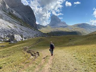The surreal landscape on trail 436 heading toward Forcella Ambrizola.
