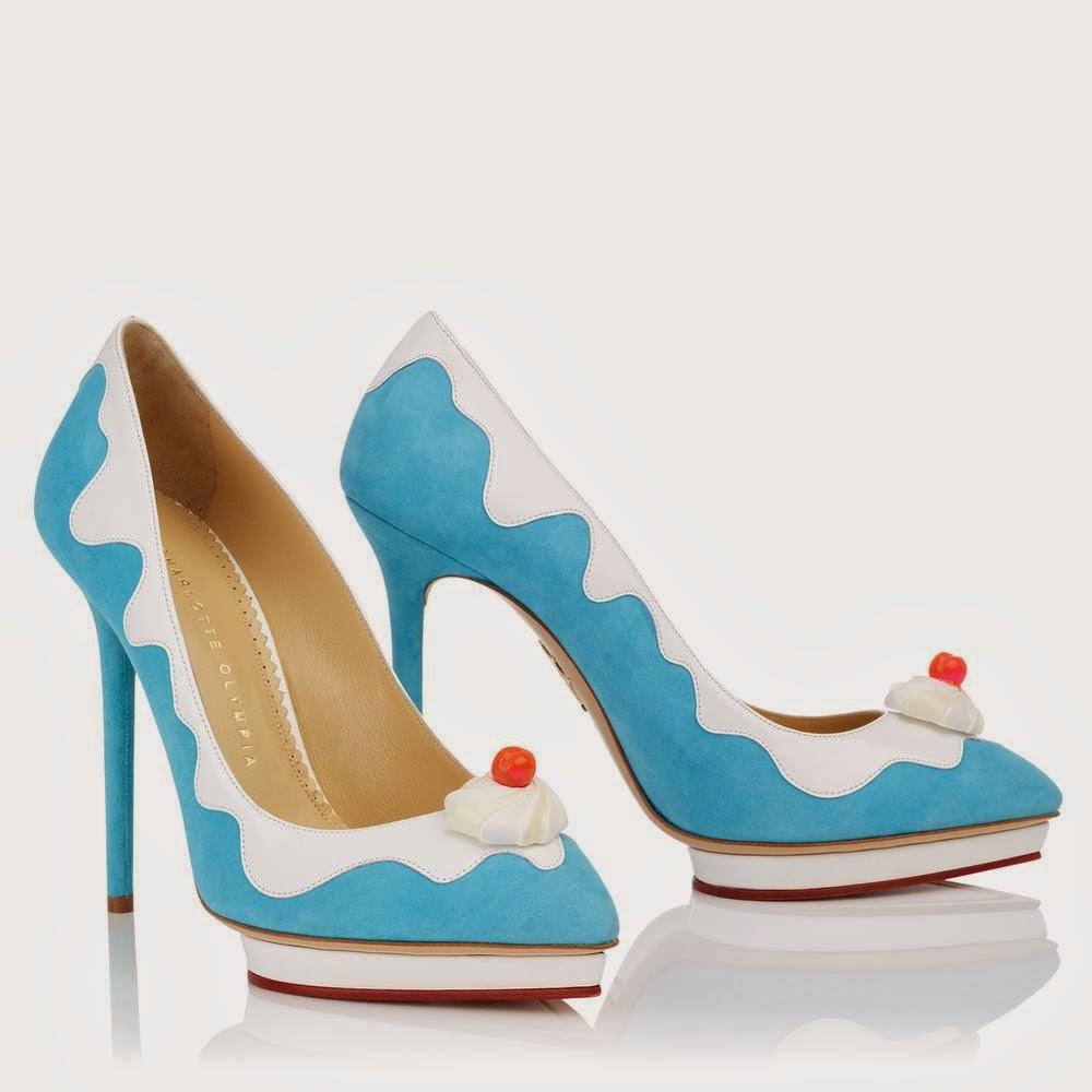 9915d6f26 A marca britânica Charlotte Olympia criou uma coleção de sapatos inspirados  nos sorvetes, os calçados são muito criativos e divertidos nas cores das ...