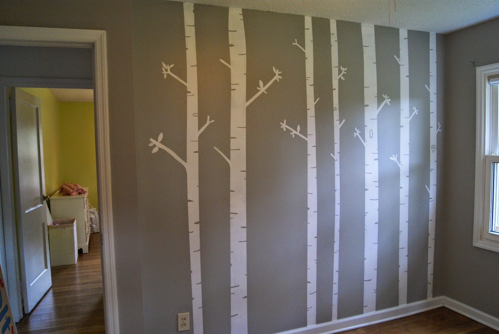 It took only a few hours to do this and it was so easy have a buddy mine was ann help you paint the room i used benjamin moore ozark shadows