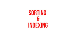 Sorting versus indexing in Database
