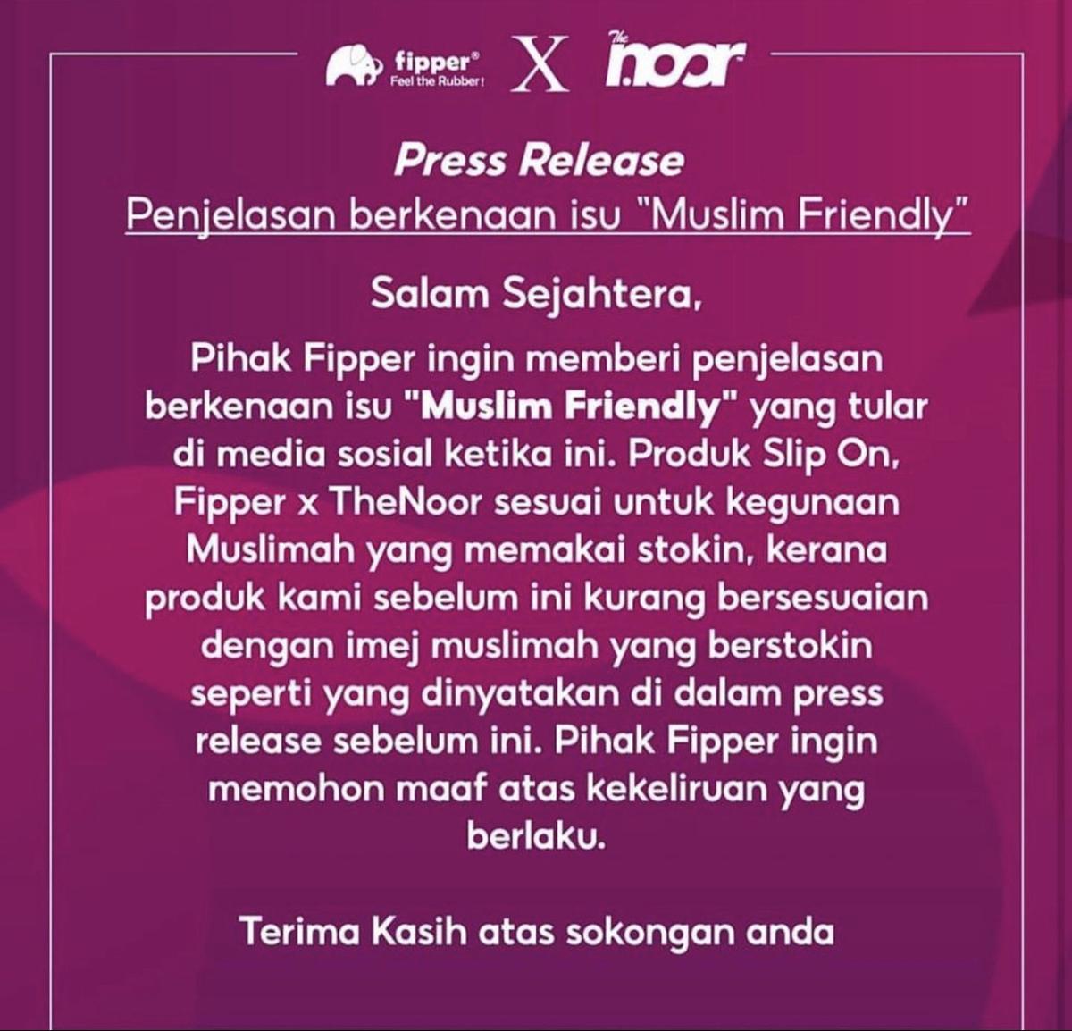 "Penjelasan Isu ""Muslim Friendly"" Slippers"
