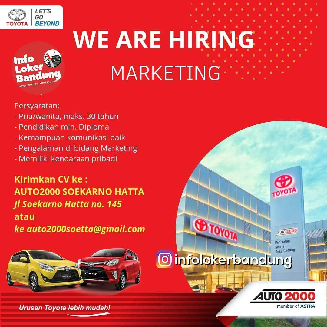 Lowongan Kerja Toyota Auto 2000 Soekarno Hatta Bandung Februari 2019