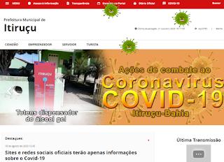 Análise do TCM aprova Portal Transparência de Itiruçu