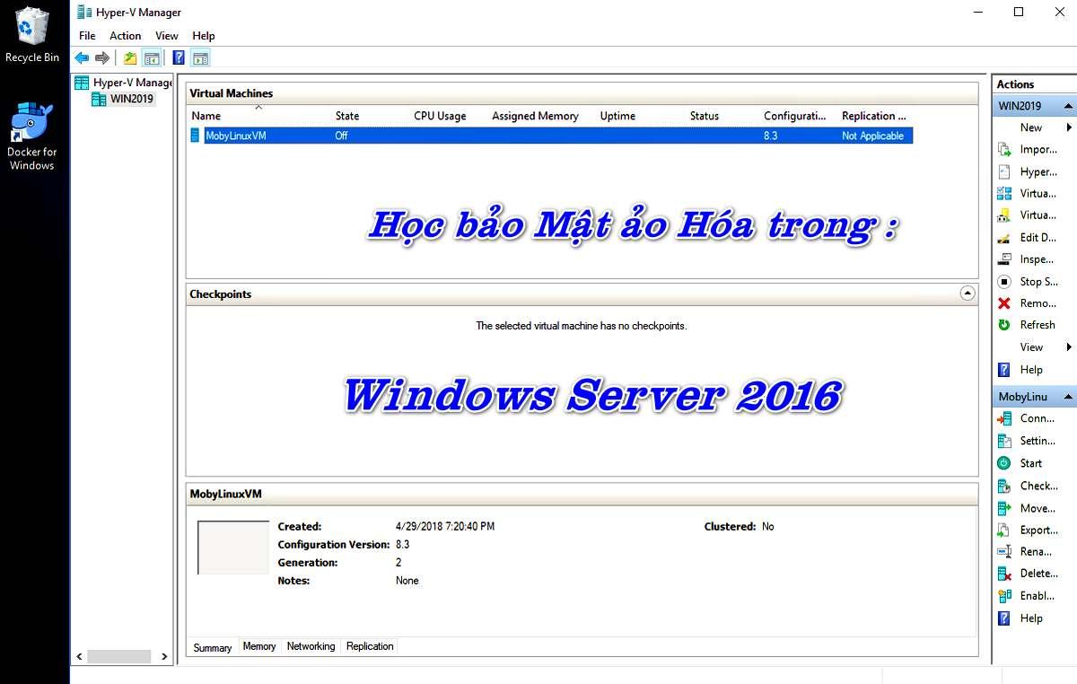 Video Khóa Học Bảo mật ảo hóa trong Windows Server 2016 .