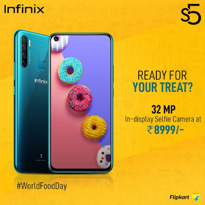 Infinix S5 with quad rear cameras land at Rs. 8,999