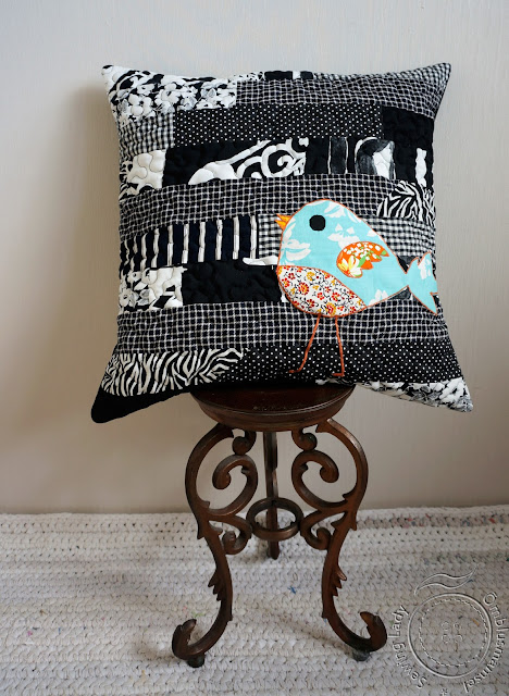 patchwork decorative pillow