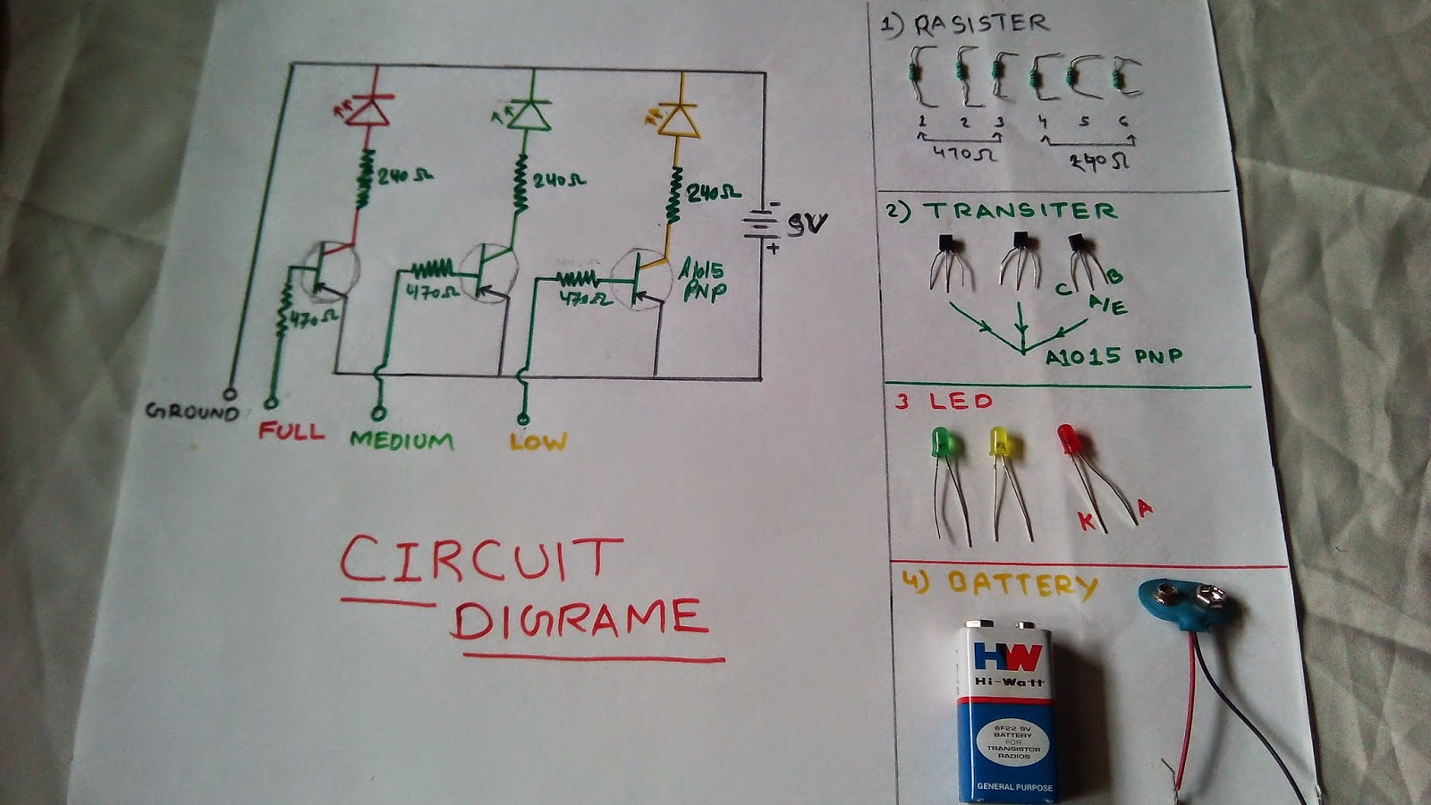 water level indicator project with circuit diagram ford 8n wiring 12v wattru official