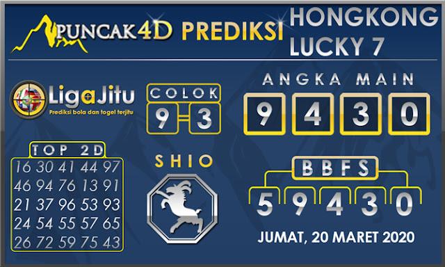 PREDIKSI TOGEL HONGKONG LUCKY7 PUNCAK4D 20 MARET 2020
