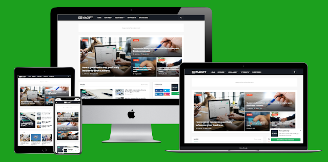 Magify - Responsive News & Magazine Blogger Template Preimum Version