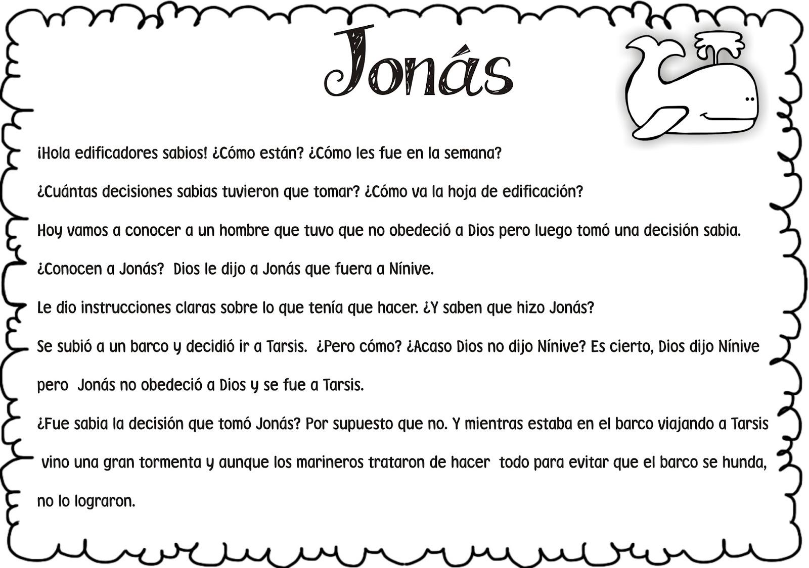 Jonas Y La Ballena Para Colorear