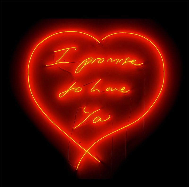 Tracey Emin, I promise to love you, 2007