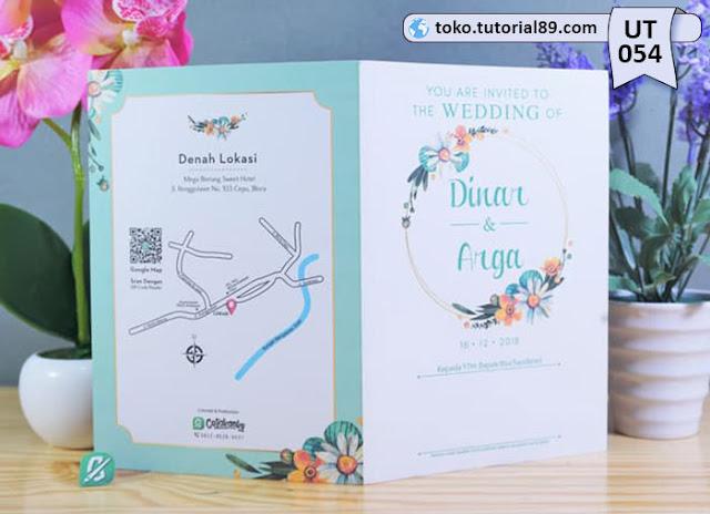 Undangan pernikahan UT054 - Seimpel Lipat 2 +free kartu ucapan terima kasih
