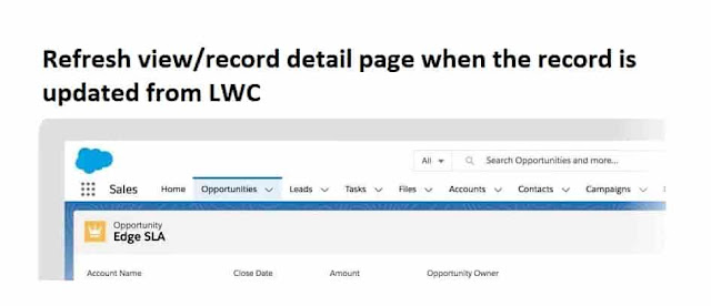 Refresh record page from Lightning web component