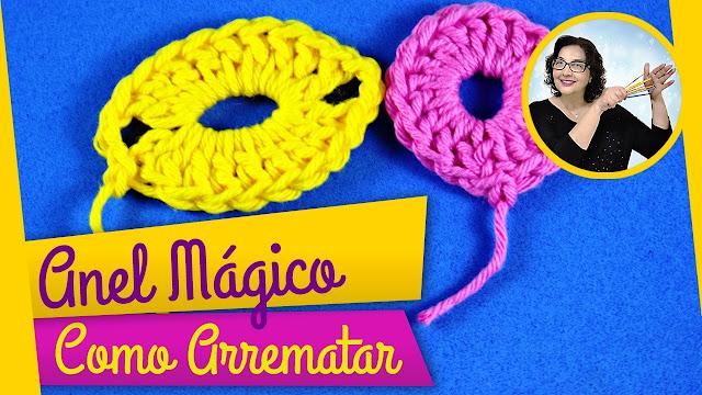 Edinir Croche ensina como arrematra anel mágico em crochê