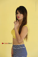 Cute Telugu Actress Shunaya Solanki High Definition Spicy Pos in Yellow Top and Skirt  0103.JPG