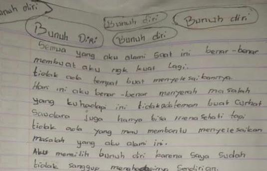 Sebelum Bunuh Diri, Karyawati Gantung Diri di Depok Tinggalkan Surat Wasiat