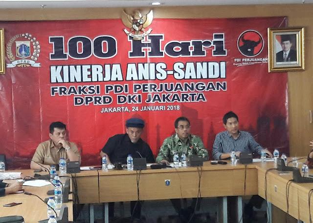 100 Hari Pemerintahan Anies-Sandi, DPRD DKI Nilai Jakarta Makin 'Hancur'
