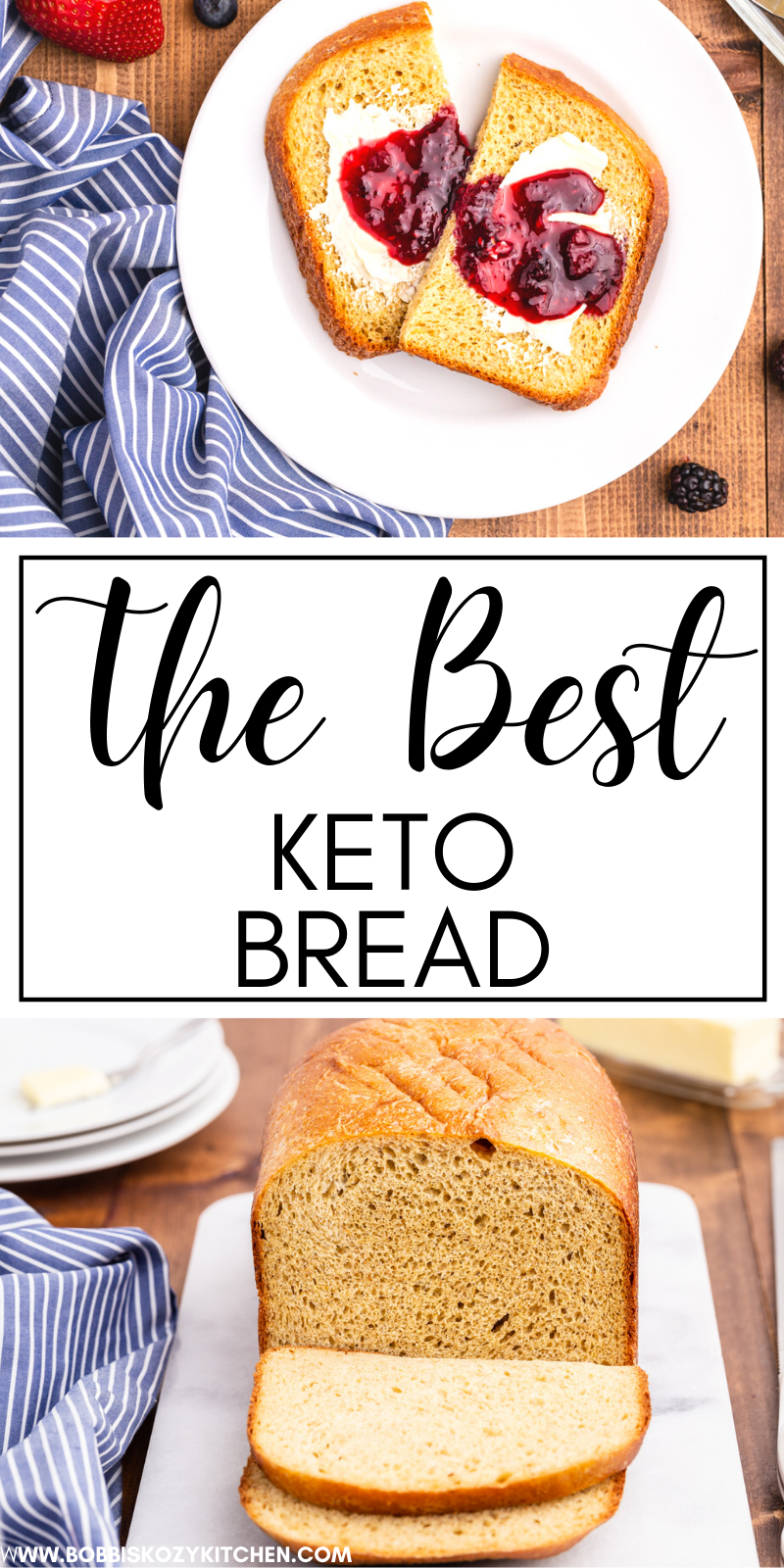 The BEST Keto Bread - If you have been looking for the best keto bread recipe look no further. This recipe creates a light loaf of bread that will make you think you are cheating on your diet, but you aren't! #keto #lowcarb #bread #recipe