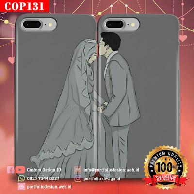 Model casing handphone couple pasangan muslim terbaru COP131