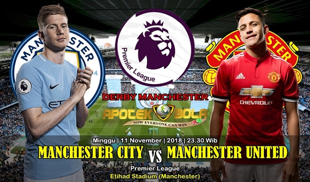 Prediksi Manchester City Vs Manchester Utd 11 November 2018