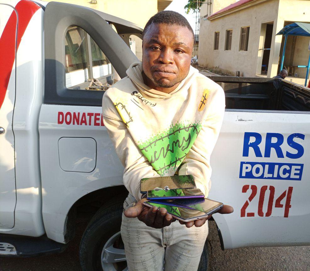 Serial Phone Thief Balogun arrested in Lagos
