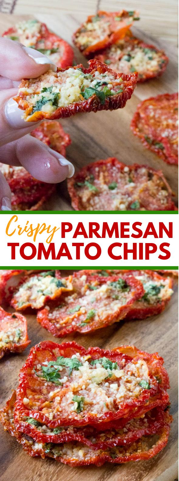 CRISPY PARMESAN TOMATO CHIPS #lowcarb #glutenfree