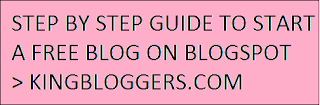 STEP BY STEP GUIDE TO START A FREE BLOG ON BLOGSPOT