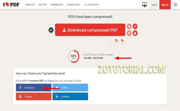 Mengecilkan Ukuran PDF Online di Android dan PC - zotutorial.com