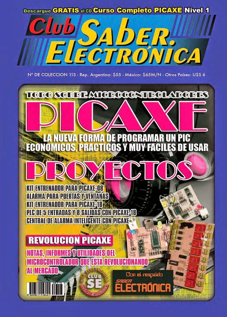 Club Saber Electrónica – Todo sobre microcontroladores PICAXE