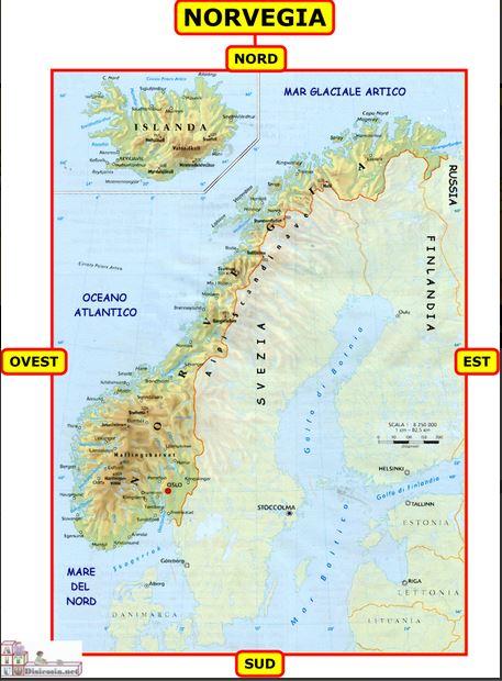 Cartina Norvegia Da Stampare.Il Piccolo Geografo La Norvegia