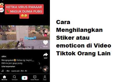 Cara Menghilangkan Emoticon Stiker Di Video Tiktok Orang Lain Nggatekno