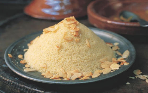 making Buttery moroccan couscous recipe