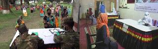 দিনাজপুরে সেনাবাহিনীর উদ্দ্যোগে  গর্ভবতী মা এবং শিশুদের  মাঝে ফ্রি মেডিকেল ক্যাম্প