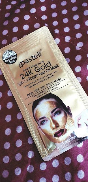 The pastel shop 24k Gold facial peel