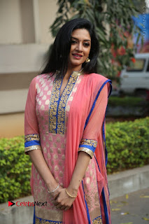 Actress Vimala Raman Stills in Beautiful Pink Salwar Kameez at (ONV) Om Namo Venkatesaya Press Meet  0074.JPG