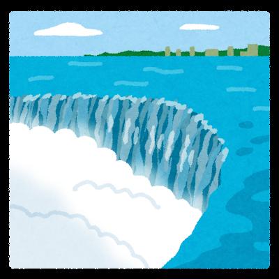 ナイアガラの滝のイラスト