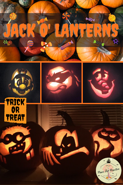 Jack o' Lanterns Halloween Paws For Reaction
