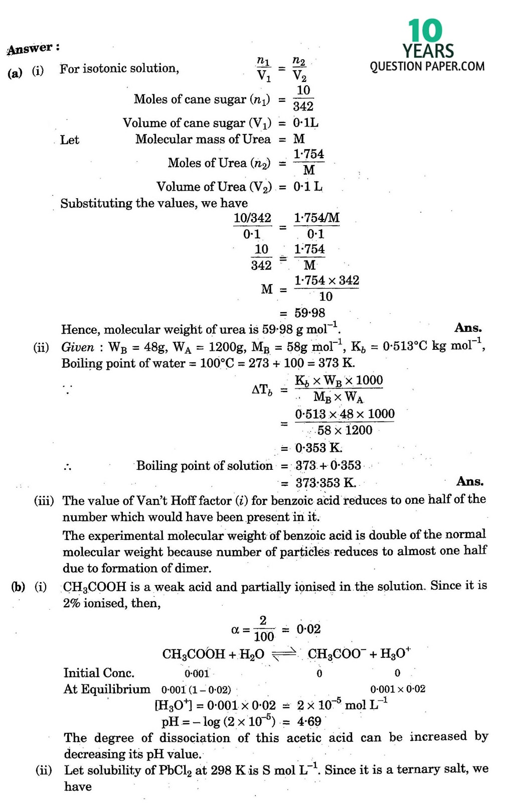isc chemistry solved paper years question paper isc 2016 class 12th chemistry answer solved paper