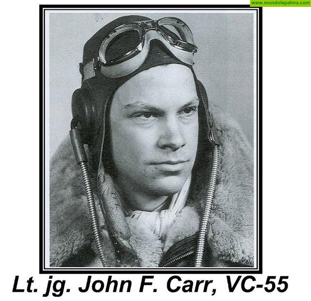 John F. Carr el piloto americano apresado en La Palma