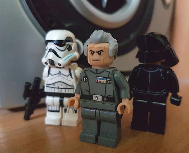 Grand Moff Tarkin and stormtroopers, Death Star, Star Wars