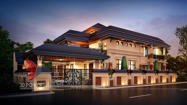 Bungalow Architectural Rendering 3D power